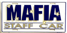 MAFFIA STAFF CAR LICENSE PLATE