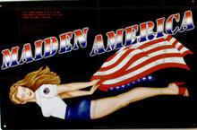 MAIDEN AMERICA NOSE ART SIGN