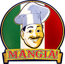 MANGIA (sublimation process) SIGN