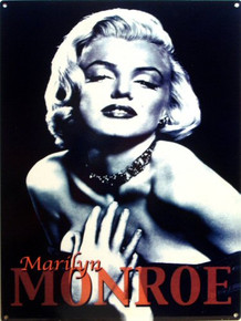 MARILYN B & W ENAMEL SIGN