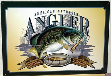 Photo of AMERICAN NATURALS ANGLER FISH SIGN, GREAT COLOR AND ATTENTION TO DETAIL MAKE THIS A SUPER SIGN FOR ANY FISHERMENS COLLECTION
