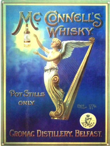 McCONNELS IRISH WHISKEY ENAMEL SIGN