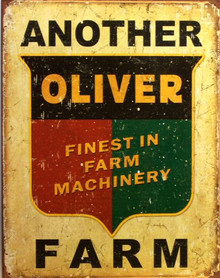 Photo of ANOTHER OLIVER FARM TRACTOR SIGN, WITH THAT RUSTIC LOOK TO MAKE IT LOOK OLD