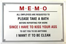 MEMO BATH SIGN