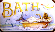MERMAID BATH (sublimation process) SIGN