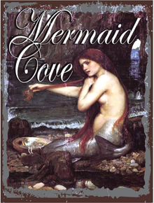 MERMAID COVE ENAMEL SIGN