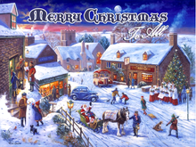MERRY CHRISTMAS ENAMEL SIGN