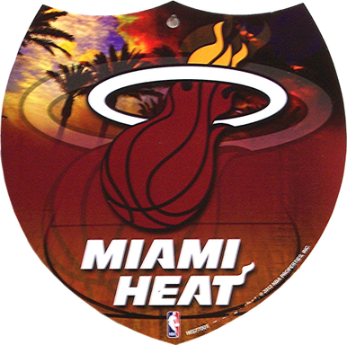 MIAMI HEAT BASKETBALL SMALL INTERSTATE SIGN