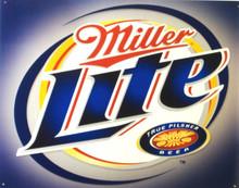 MILLER LITE (BLUE/SILVER) BEER SIGN