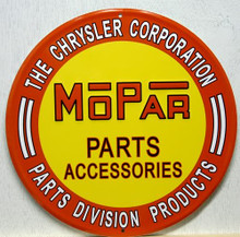 MOPAR PARTS SIGN