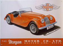 MORGAN tin sign