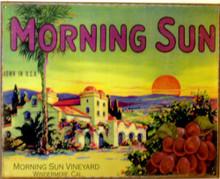 MORNING SUN VINEYARD WINE SIGN