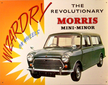 MORRIS MINI-MINOR SIGN