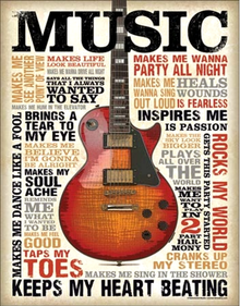 MUSIC INSPIRES ME SIGN