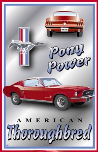 FORD MUSTANG PONY POWER SIGN