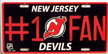 Photo of NEW JERSEY DEVILS #1 FAN LICENSE PLATE