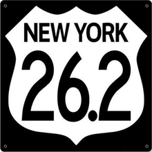 NEW YORK 26.2   MARATHON STOCK SIGN (NOT CUSTOMIZEABLE)