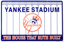 NEW YORK YANKEES BASEBALL STADIUM SIGN