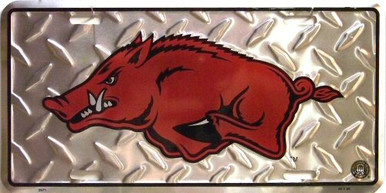Photo of ARKANSAS RAZORBACKS EMBOSSED COLLEGE LICENSE PLATE