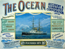 OCEAN INSURANCE ENAMEL SIGN