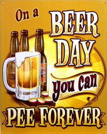 ON A BEER DAY SIGN