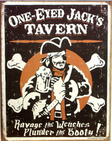 ONE EYED JACK'S TAVERN SIGN