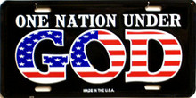 ONE NATION UNDER GOD LICENSE PLATE