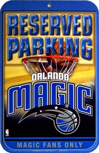 ORLANDO MAGIC BASKETBALL PARKING ONLY SIGN