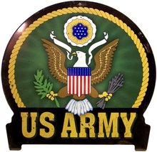 Photo of ARMY RIBBONED, RUSTIC LOOK ON THIS HEAVY METAL SIGN, GREAT FOR ANY SOLDIER