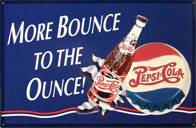 PEPSI MORE BOUNCE SIGN
