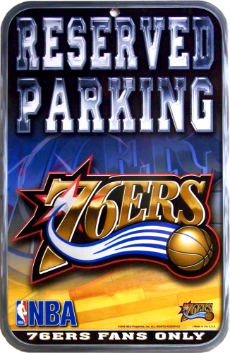 PHILADELPHIA 76ERS BASKETBALL PARKING SIGN