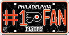 PHILADELPHIA FLYERS HOCKEY #1 FAN LICENSE PLATE