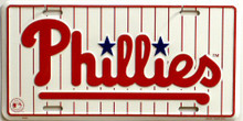 PHILADELPHIA PHILLIES BASEBALL LICENSE PLATE