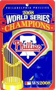 PHILADELPHIA PHILLIES BASEBALL WORLD SERIES CHAMPS 2008