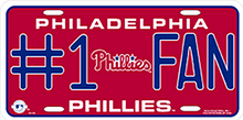PHILADELPHIA PHILLYS BASEBALL #1 FAN LICENSE PLATE