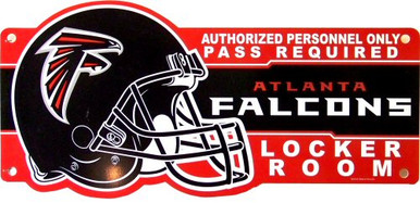 Photo of ATLANTA FALCONS FOOTBALL LOCKER ROOM OLD STYLE SIGN (OUT OF PRINT)
