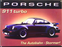 PORCHE 911 ENAMEL SIGN