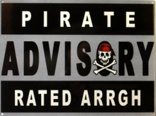 RATED ARRR PIRATE ENAMEL SIGN  GREAT FOR THE MOVIE ROOM TOO