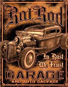 RAT ROD GARAGE SIGN