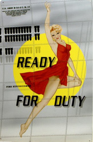 READY FOR DUTY NOSE ART SIGN