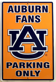AUBURN FANS EMBOSSED COLLEGE SIGN