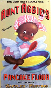 Photo of AUNT AGGIES PANCAKES CUTE ETHNIC PANCAKE MIX SIGN GREAT COLOR AND SUBJECT MATTER