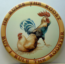 ROOSTER & HEN SIGN