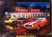 ROSIE'S, EVENING AT CARS SIGN