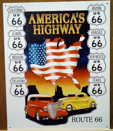 ROUTE 66 AMERICA'S HIGHWAY SIGN