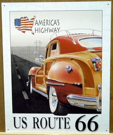 ROUTE 66  WOODY SIGN