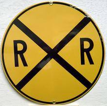 RR XING TRAIN PORCELAIN SIGN