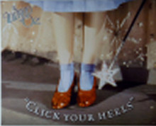 RUBY SLIPPERS WIZARD OF OZ SIGN