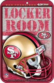 SAN FRANCISCO 49ERS FOOTBALL SIGN