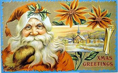 SANTA WAVING - CHRUCH SCENE CHRISTMAS SIGN